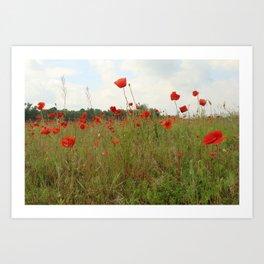 among weeds Art Print