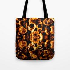 Skulls of Fire Tote Bag