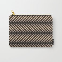 Optical wavy brown pattern Carry-All Pouch
