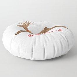 Sleigh Bells Ring Reindeer Floor Pillow
