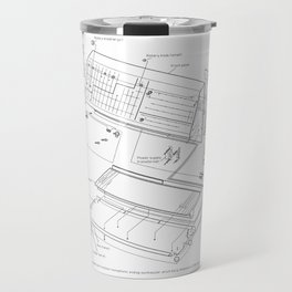 Korg MS-20 - exploded diagram Travel Mug