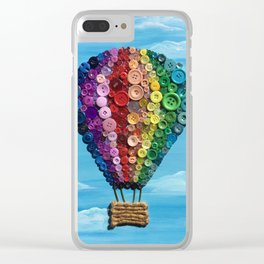 Button Balloon Clear iPhone Case