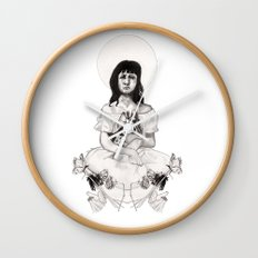The Girl With Half a Lung Wall Clock