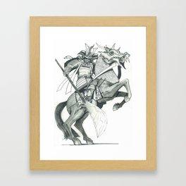 Raging  Samurai #2 Framed Art Print