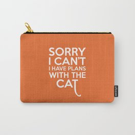 Plans With The Cat Funny Quote Carry-All Pouch