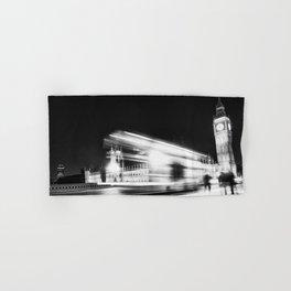 Bus passing Westminster B&W Hand & Bath Towel