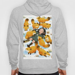Snuggles with foxes Hoody