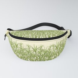 Sugar Cane Exotic Plant Pattern Fanny Pack