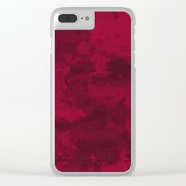 Cool Red marble stone texture design Clear iPhone Case