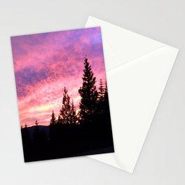 Rocky Mountain Sunset Stationery Cards