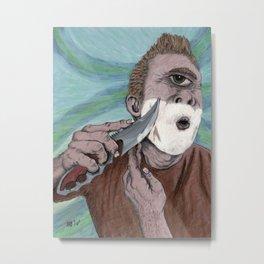 Greek Cyclops Knife Shaving Fantasy Art Metal Print