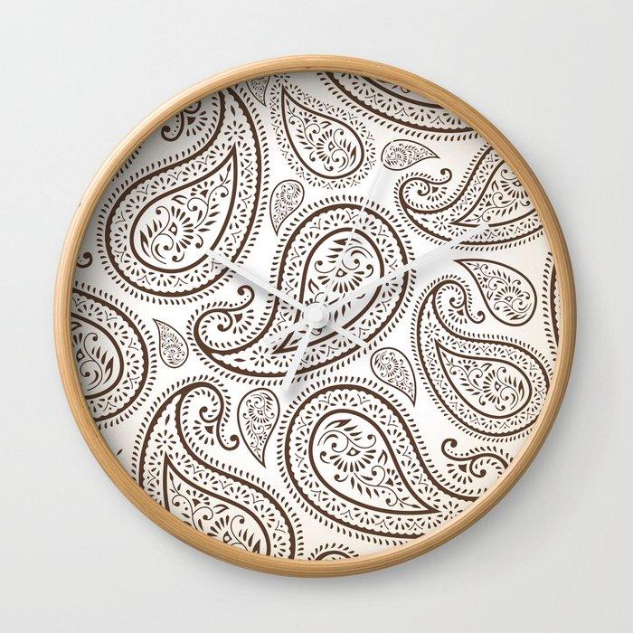 Paisley Threads Wall Clock