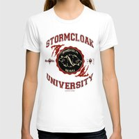 skyrim T-shirts featuring Stormcloak University(Skyrim) by Chubbybuddhist