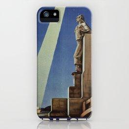 Trieste art deco Italian travel ad iPhone Case