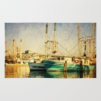 christian Area & Throw Rugs featuring Pass Christian Harbor by JMcCool