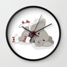 Elephant on skates Wall Clock
