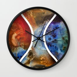 Hour Glass Wall Clock