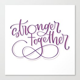Stronger Together - Purple Canvas Print