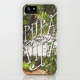 Pura Vida Costa Rica Jungle Life Caribbean Type iPhone Case