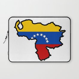 Venezuela Map with Venezuelan Flag Laptop Sleeve