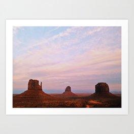 Monument Valley Sunset Art Print
