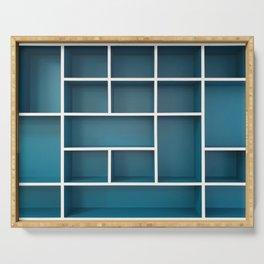 blue shelves Serving Tray