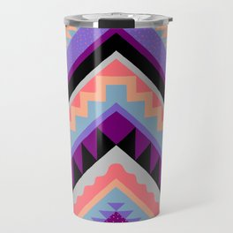 Wavy Chevron - Peach Plum Travel Mug