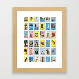 Lotería Cards Framed Art Print
