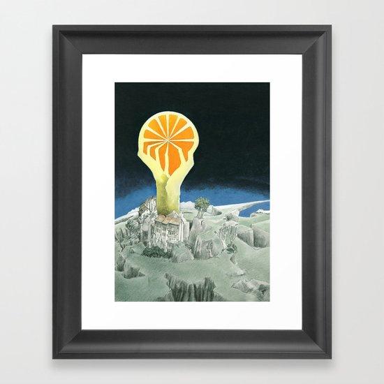 Orange city Framed Art Print