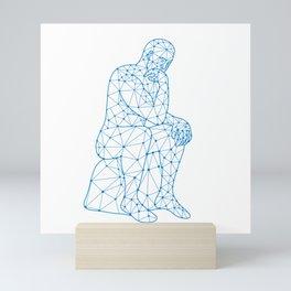 Future Man Thinking Nodes Mini Art Print