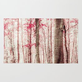 Pink and Brown Fantasy Forest Rug