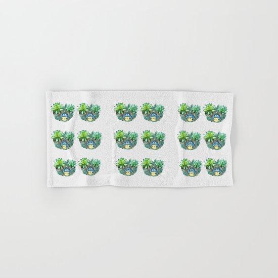 succulent plant set Hand & Bath Towel