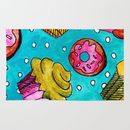 Muffins and doughnuts Rug