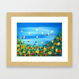 Field of Happines Framed Art Print
