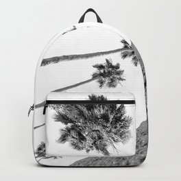 {2 of 2} Hug a Palm Tree // Tropical Summer Black and White Sky Art Print Backpack