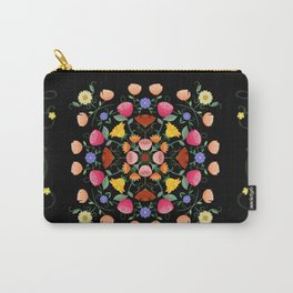 Folk Art Inspired Garden Of Fantastic Floral Delight Carry-All Pouch