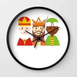 Christmas Begins With Christ Kids Wise Men Religious Christmas Christian Christmas Keep Christ in Ch Wall Clock