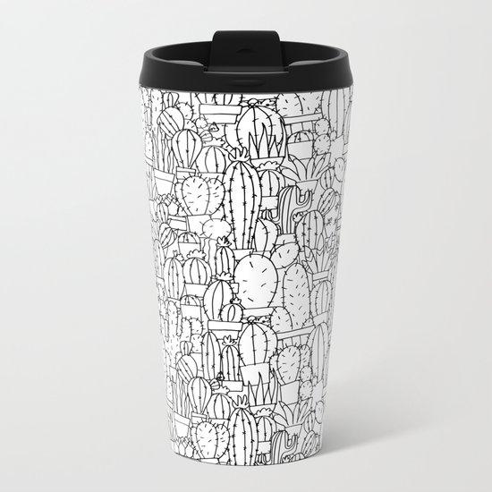 Cool as a Cactus Metal Travel Mug