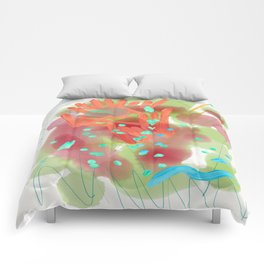 Heart to Heart Abstract Painting Comforters