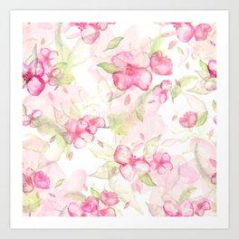 Cherry blossom pattern Art Print