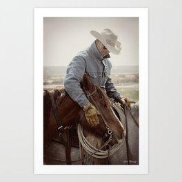 Cowboy Affection Art Print