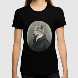 Lithography wolf T-shirt