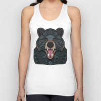 ornate Tank Tops featuring Ornate Black Bear by ArtLovePassion