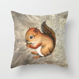Sciurus (Baby Squirrel) Throw Pillow