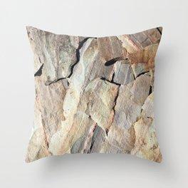 Real Rock Camo Throw Pillow
