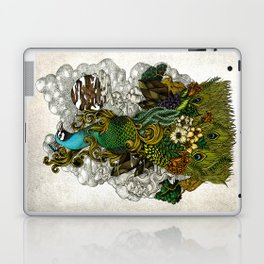 Floral Peacock Laptop & iPad Skin