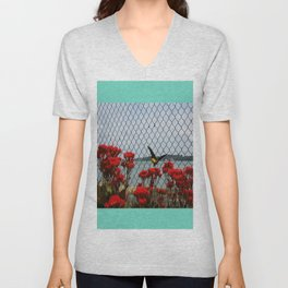 JUST PASSING BY Unisex V-Neck