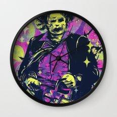 Neon Horror: Leatherface Wall Clock