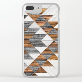 Urban Tribal Pattern 12 - Aztec - Wood Clear iPhone Case