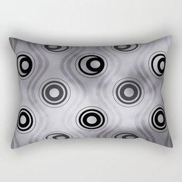 Pantone Lilac Gray, Bold Circle Rings & Wavy Line Pattern Rectangular Pillow